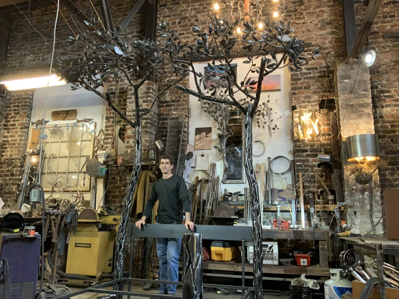 David C. Rockhold of New Orleans  Furniture and Sculpture in Metal